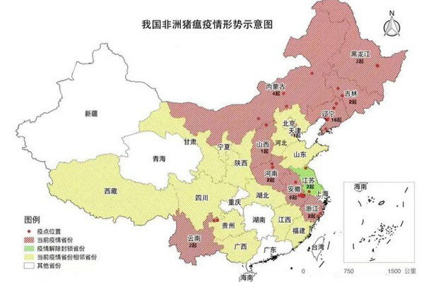 非洲猪瘟全国蔓延,截至10月23日,疫情涉及12个省31个地市!