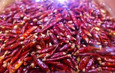 这是一张关于子弹头干辣椒的产品图片