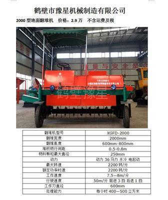 河南省鹤壁市淇滨区有机肥发酵翻堆机