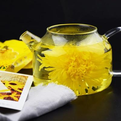 青海省海北藏族自治州门源回族自治县金丝皇菊花茶 罐装 特级
