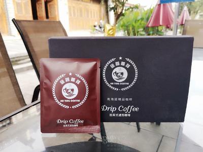 这是一张关于普洱小粒咖啡豆的产品图片