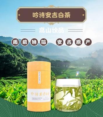 浙江省湖州市安吉县安吉白茶 罐装 二级