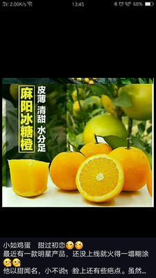 湖南省怀化市麻阳苗族自治县麻阳冰糖橙 55 - 60mm 4两以下
