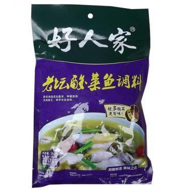 这是一张关于鱼酸菜的产品图片