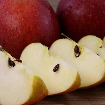 山西省运城市临猗县秦冠苹果 70mm以上 片红 光果