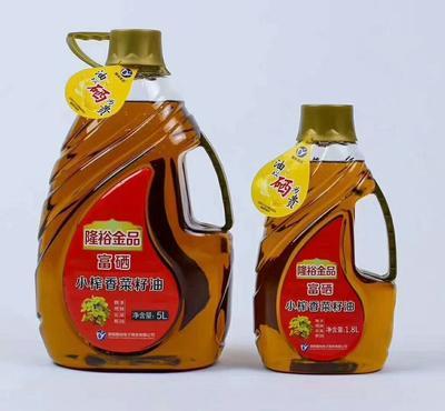 这是一张关于纯菜籽油的产品图片