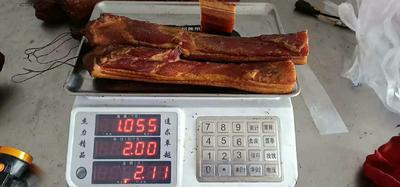 这是一张关于重庆腊肉  袋装 正宗五花肉,半肥半瘦的产品图片