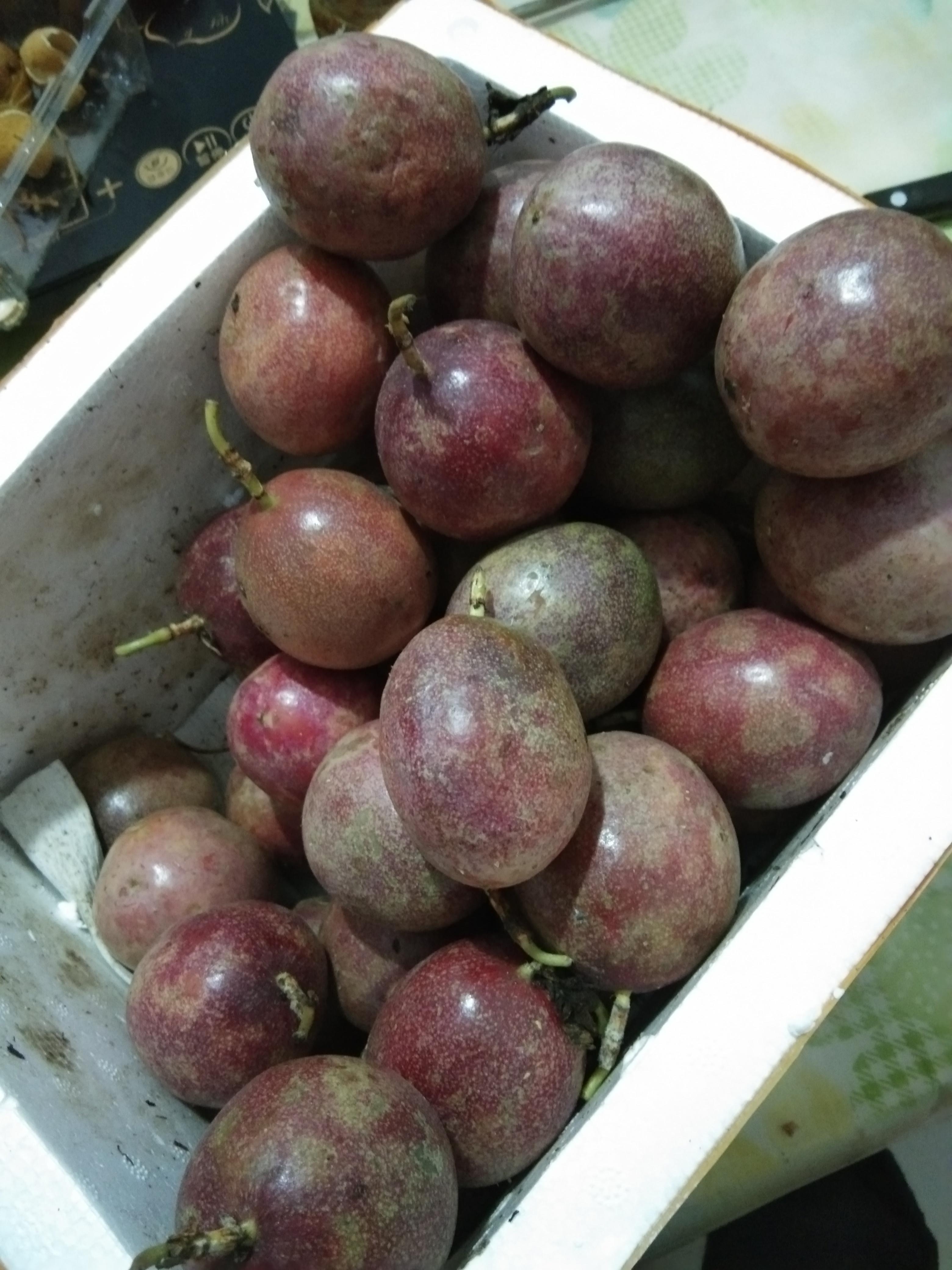 买家韦荣书对紫色百香果批发的评价晒图