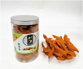 这是一张关于红薯干  条状 罐装 特级品的产品图片