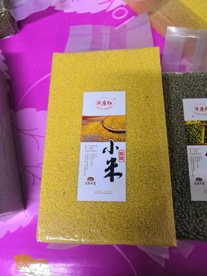 这是一张关于有机富硒小米的产品图片