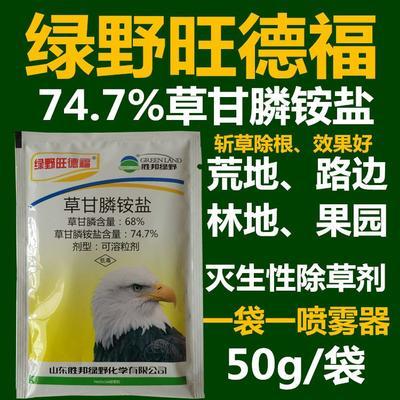 这是一张关于草甘膦  可溶性粉剂 袋装 低毒 胜邦绿野旺德福草甘膦的产品图片