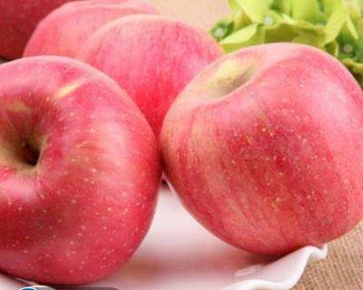 陕西省西安市雁塔区红富士苹果 75mm以上 条红 纸+膜袋
