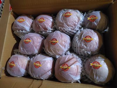 新疆维吾尔自治区阿克苏地区阿克苏市冰糖心苹果 75mm以上 条红 纸袋