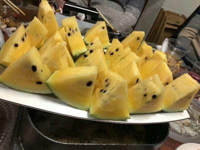 广西壮族自治区来宾市象州县黄心西瓜 6斤打底 9成熟 1茬 有籽