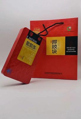 山东省聊城市东阿县 阿胶片  24个月以上 百年堂铁盒红标
