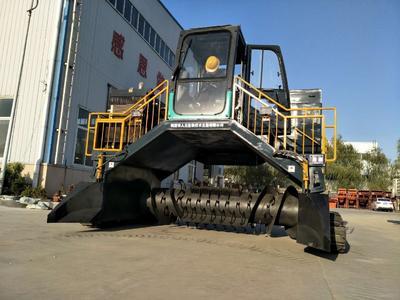 河南省鹤壁市淇滨区有机肥生产设备  全液压履带翻堆机