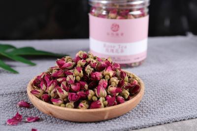 这是一张关于玫瑰花茶 一级 罐装 的产品图片