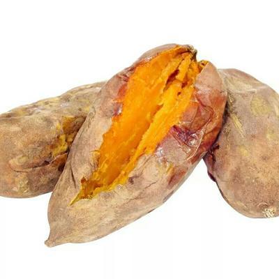 这是一张关于鸡蛋黄红薯 3两~6两 红皮 的产品图片