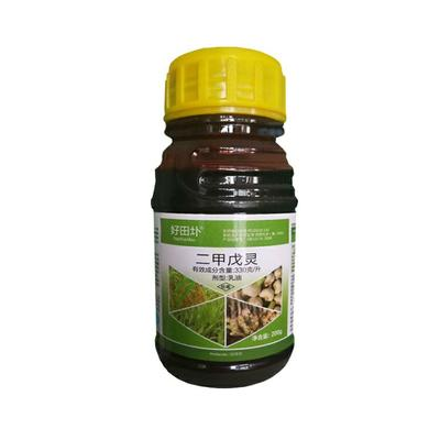 这是一张关于二甲戊灵 乳油 瓶装 低毒 的产品图片