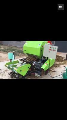 山东省菏泽市郓城县饲料打捆机 水稻秸秆粉碎包膜机