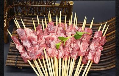 这是一张关于羊肉串 简加工 的产品图片