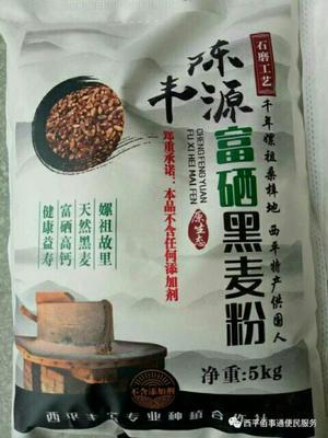 河南省郑州市金水区石磨面粉 富硒黑小麦面