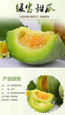 广东省潮州市湘桥区绿宝甜瓜 0.5斤以上