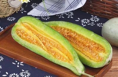 甘肃省酒泉市肃州区羊角蜜甜瓜种子 常规种(大田用种) ≥90%