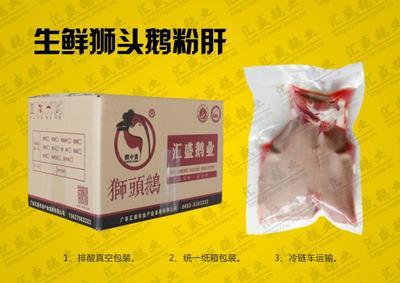 广东省揭阳市榕城区冰鲜狮头鹅肝 冷冻