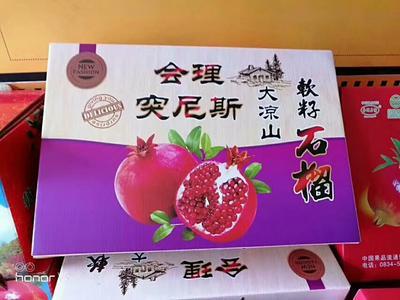 四川省凉山彝族自治州会东县红如意软籽石榴 0.8 - 1斤
