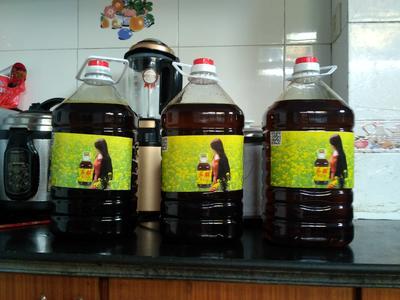江苏省扬州市邗江区自榨纯菜籽油 4.5-5L