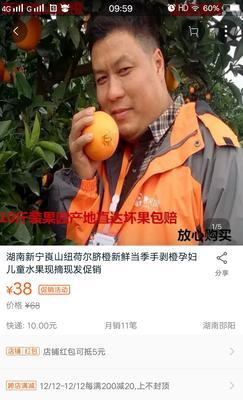 这是一张关于纽荷尔脐橙 70-75mm 4两以下的产品图片