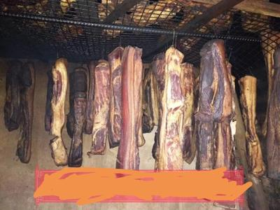 这是一张关于五花腊肉 散装 3-6个月的产品图片