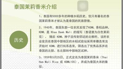 这是一张关于萨南隆泰国茉莉香米 有机大米 晚稻 一等品 的产品图片