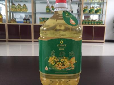陕西安康白河县压榨菜籽油 5L/桶