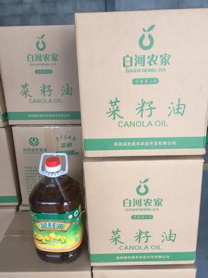 陕西安康白河县非转基因菜籽油 5.0L