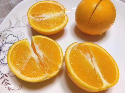 这是一张关于麻阳冰糖橙 55 - 60mm 4两以下的产品图片