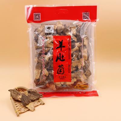 这是一张关于羊肚菌 干货 3cm~6cm 圆顶 灰黑色 人工种植的产品图片
