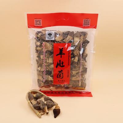 这是一张关于羊肚菌 3cm以下 干货 圆顶 灰黑色 人工种植 羊肚菌S的产品图片