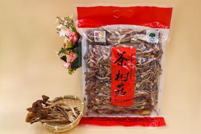 湖南省长沙市长沙县棕褐色帽茶树菇 10~12cm 未开伞 干茶树菇