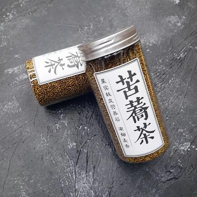 云南省昆明市官渡区苦荞茶 罐装 麸皮黑苦荞茶 全皮荞