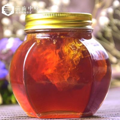 云南省昆明市呈贡区蜂巢蜜 玻璃瓶装 西西果蜜