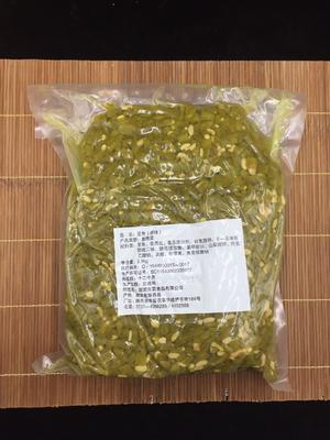 湖南省岳阳市华容县腌制豆角 原味豆角麻辣味红油