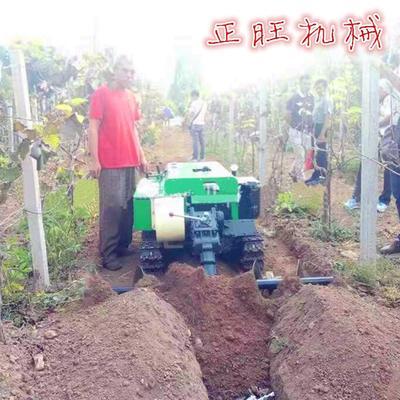 湖南省长沙市浏阳市自走式开沟施肥机 履带式开沟施肥机