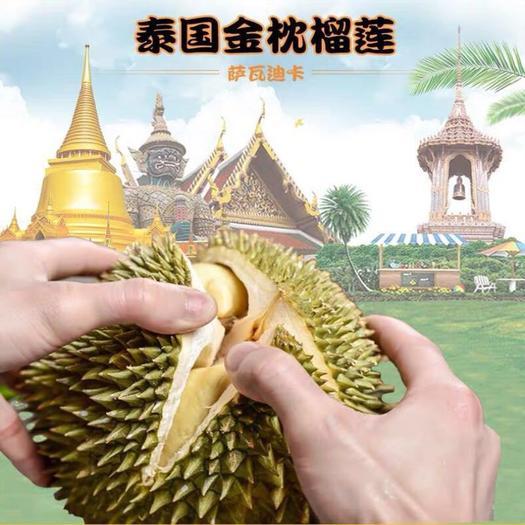 泰国金枕头榴莲B果8-10颗装33斤
