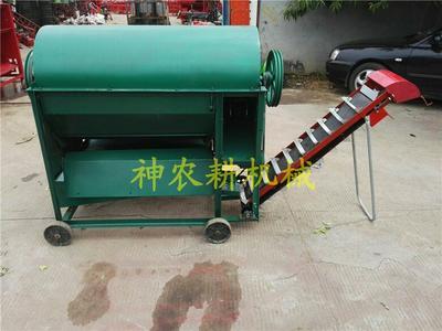 山东济宁曲阜市摘果机 小型自动装袋花生干湿两用去秧脱果机