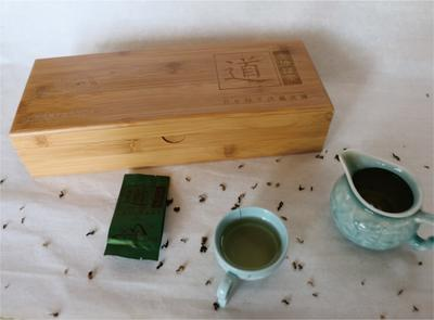 广西来宾云雾茶 盒装 道(龙坤绿茶)