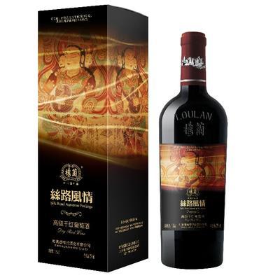 四川成都葡萄酒 10-15度 3-5年 楼兰丝路风情高级干红葡萄酒一瓶