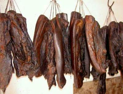 宁夏银川农家柴熏腊肉 18-24个月 散装