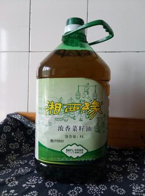 湖南怀化非转基因菜籽油 5L/桶